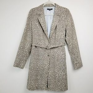 Karen Kane Women's Leopard Print Trench Coat